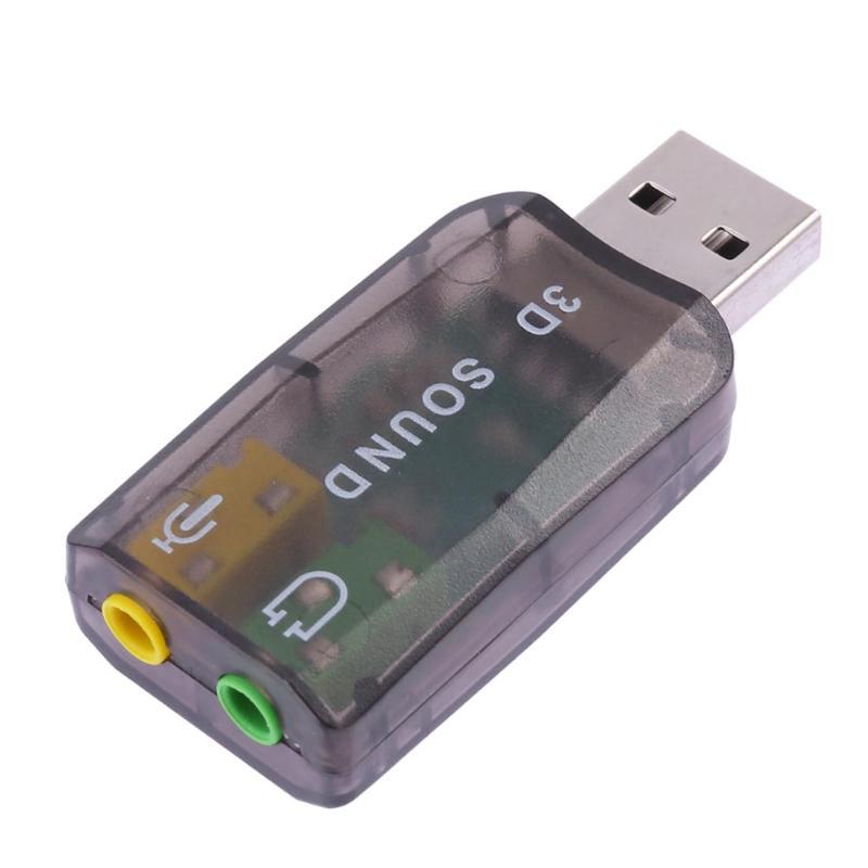 External USB 2.0 Sound Card Virtual 5.1 Channel Xear 3D Audio Interface Adapter For Desktop Laptop Notebook Computer