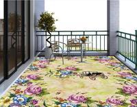 3d Floor Murals Custom Wallpaper 3d Floor Photo Mural Wallpaper Flower European Marble Pattern Vinyl Flooring