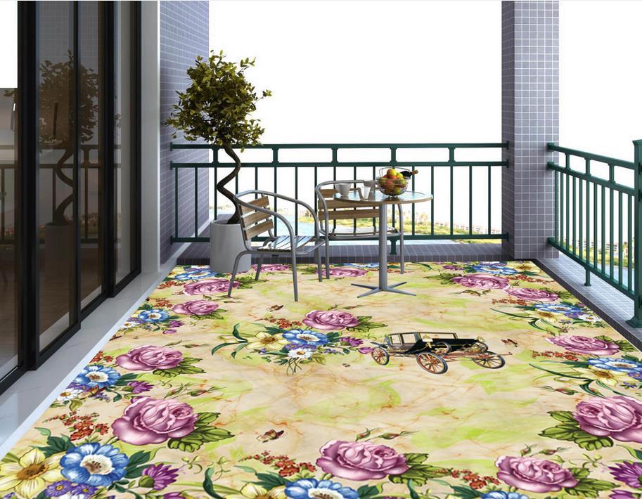 Marble Floor Mural : Popular patterned vinyl flooring buy cheap