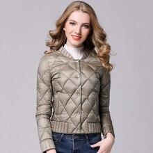 2017 Spring Winter Women Ultra Light Down Jacket Casual Female Portable duck feather Coat Jackets Lightweight Parkas