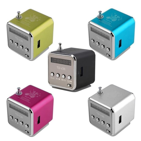 Цифровой портативный радио FM мини-динамик интернет FM радио, USB-SD-плеер TF-карты для мобильного телефона ПК-плеер для ПК,
