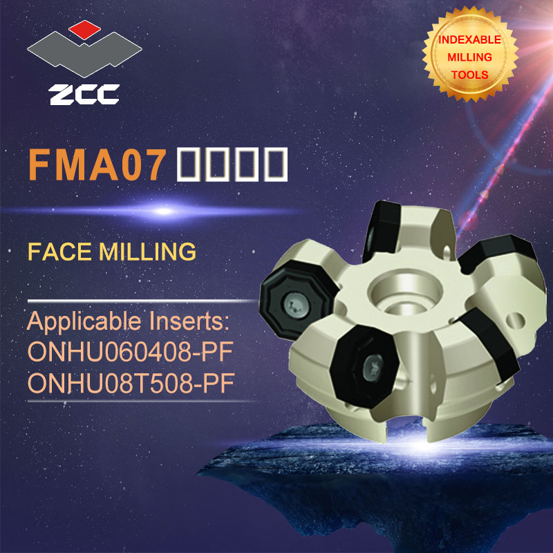 ZCC.CT original face milling cutters FMA07 high performance CNC lathe tools indexable milling tools close and even pithch 45 DEG zcc ct square shoulder milling cutters emp05 high performance cnc lathe tools indexable milling tools
