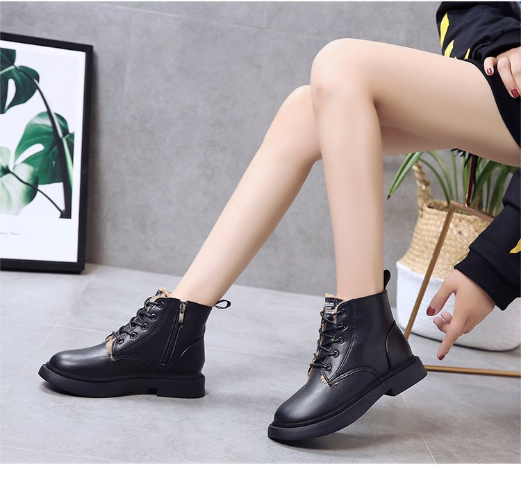 New Genuine Leather women boots winter whit fur Waterproof shock absorption warm breathable wear-resistant non-slip women shoes (8)