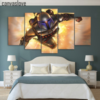 5 Piece Canvas Art HD Print Fantasy Steel Soldier Painting Home Decor Wall Paintings For Living