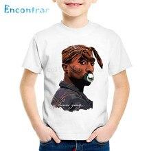 Fashion Print Tupac 2pac Children T-shirts Kids Hip Hop Swag Summer Short Sleeve Tees Boys/Girls Casual Tops Baby Clothes,HKP287