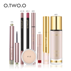 O.TWO.O Makup Tool Kit 8 PCS Make up Cosmetics Including Lipliner Lip gloss Mascara Foundation Concealer With Package
