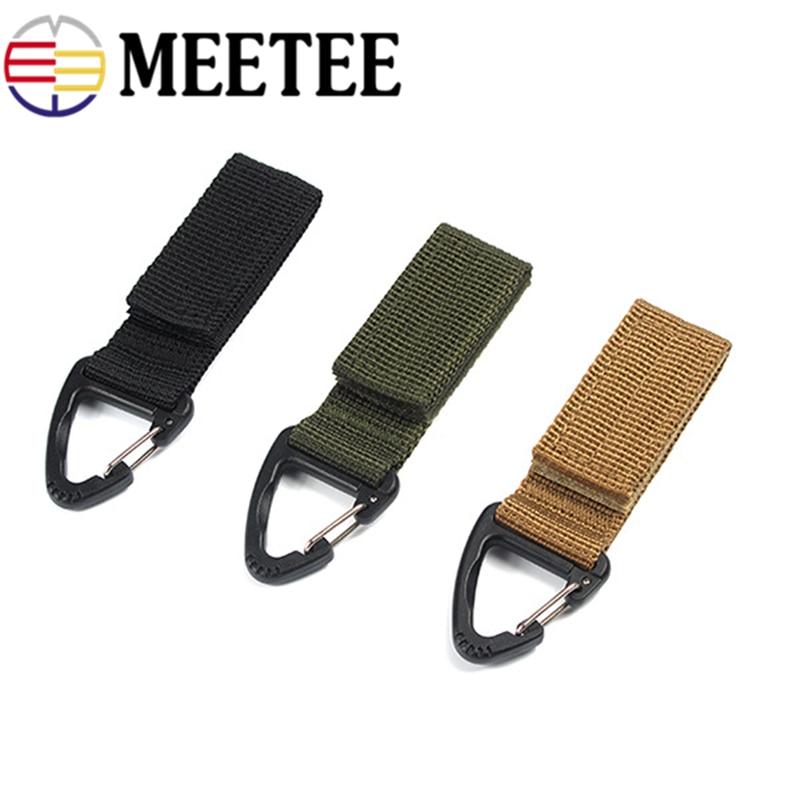 Tactical Hanging Belt Carabiner Key Hook Webbing Buckle Clip Backpack J