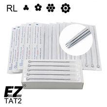 50 ชิ้น/กล่องDisposable Sterile Round Liner Tattoo NeedlesสำหรับมาตรฐานTattooเครื่องGrips 1/3/5/7/9/11/13/15RL