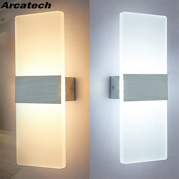 3W/12W LED Acrylic Wall Light AC85-265V RectangleWall Sconce Living Room Bedroom Background Wall Corridor  Wall Lamp NR-37