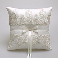 Western Style NEW Elegant Rose With Lace Wedding Favors Gift Ring Box Pillow Cushion Wedding Decor