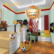 Yaratıcı çocuk odası ışıkları balkon basketbol kolye ışık LED lamba damla lamba E27 yatak odası yemek abajur ev