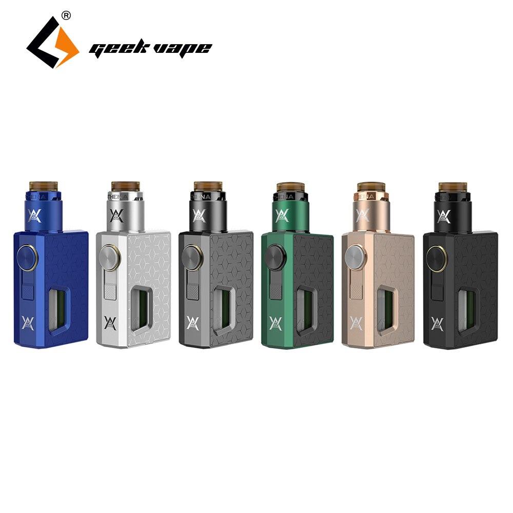 100% Originale GeekVape Squonk Kit & Athena Athena Squonk RDA Serbatoio atomizzatore con Squonk Bottiglia 6.5 ml E-cig Vape Kit per Gli Appassionati di FAI DA TE