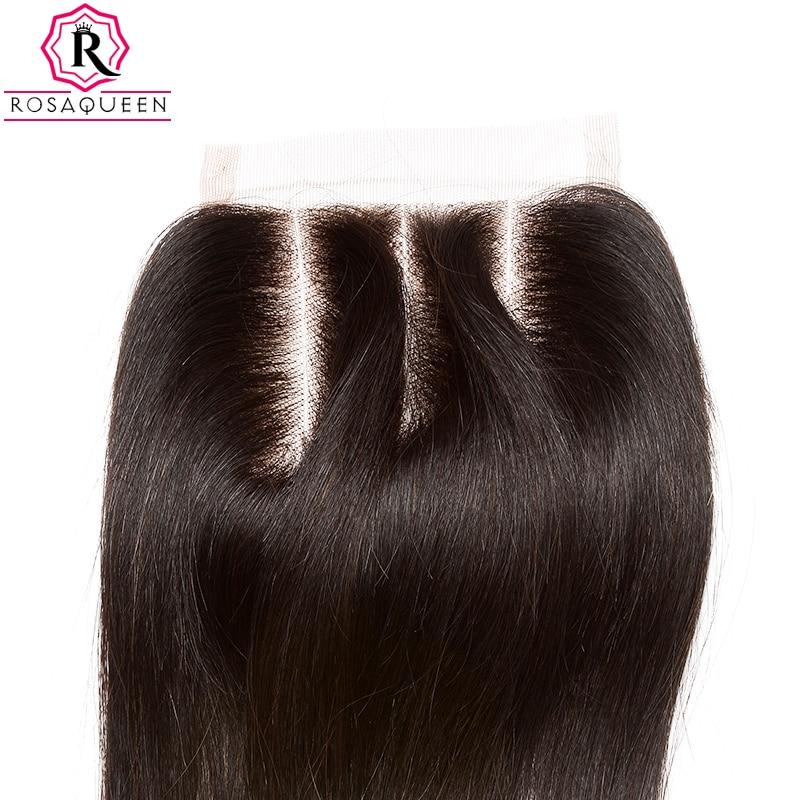 Dolago čipke zaprtje z otroškimi lasmi naravnost Remy las naravne - Človeški lasje (za črne) - Fotografija 4