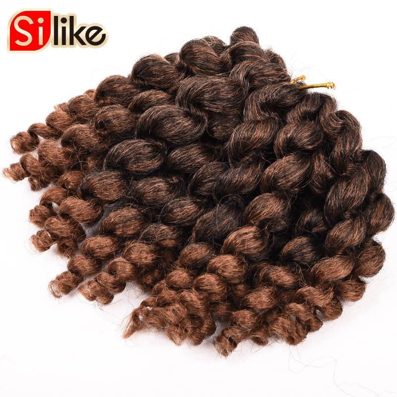 Silike Jumpy Wand Curl 8inch 80g Jamaican Bounce Crochet Hair 22 - Syntetiskt hår - Foto 4