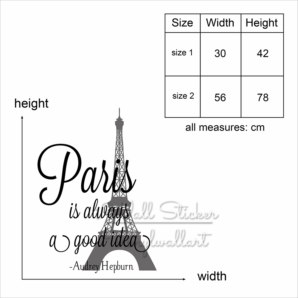 Paris Is Always A Good Idea Quote Wall Sticker Paris Quote Wall