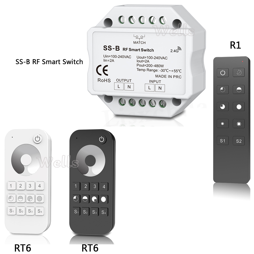 New SS-B S1-B S1-D AC Triac RF Dimmer compatible with 2.4G Remote Controller R1 RT6 led remote r7m a75030 s1 r7m a75030 s1 ac servo motor r7m a75030 s1