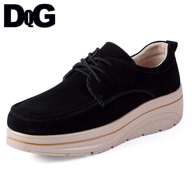 DQG Women Shoes 2018 Autumn New Fashion Solid Casual Shoes Flat Platform Shoes Sapato Feminino Slip On Flats Zapatos Mujer flat shoes woman slip on loafers pointed toe breathable fur women shoes 2018 zapatos mujer casual ladies shoes sapato feminino
