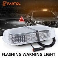 Partol 240 LED Car Roof Flashing Strobe Emergency Light w Magnet Base DC 12V 24V LED Truck Police Fireman Warning Lights Amber