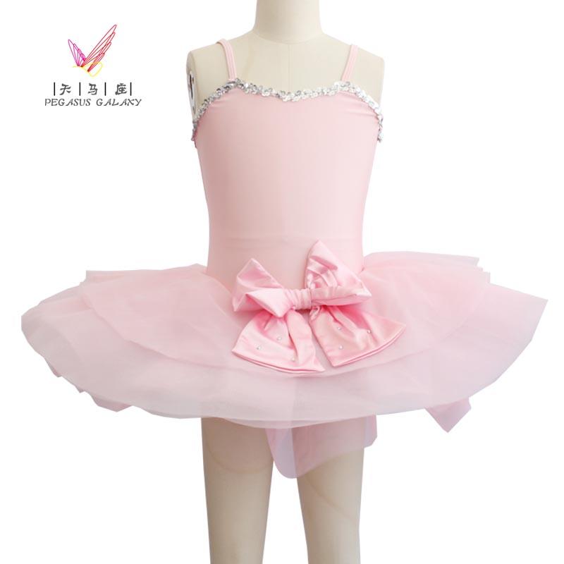 Pink Romantic Ballet Dance Gymnastics Leotard Classical Ballet Clothes Children Girl Swan Lake Ballet Costumes Kids Ballet Dress