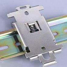 Fase monofásica ssr 40da 25da aa dd 35mm trilho din fixo relé de estado sólido clipe braçadeira R99-12 relés de estado sólido suporte de montagem