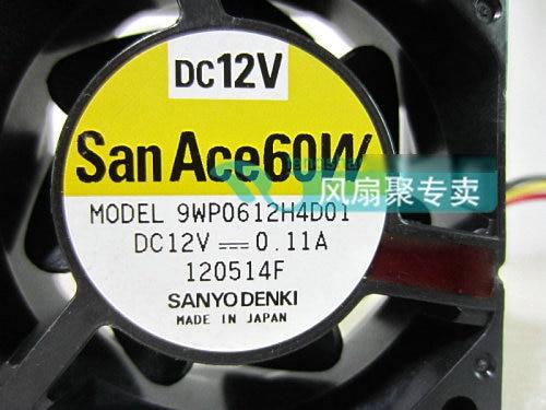 Original Sanyo 9WP0612H4D01 6cm 6025 12v 0.11A waterproof cooling fan сварочная горелка fortune 10 1 6 1 16 45v43 wp 9 wp 20 wp 25 wp 9 wp 20 wp 25