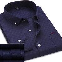 Dudalina Camisas Dos Homens do Algodão Moda Manga Comprida Casual Shirt Tops da Cópia Floral Bordado 2017 Novas Blusas camisa Dos Homens Vestido de Marca