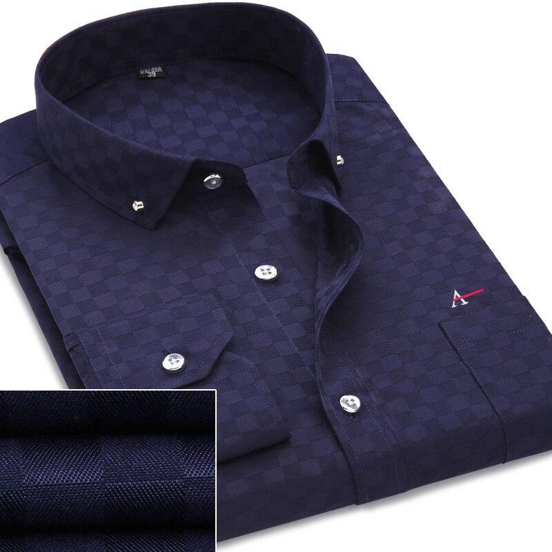 Dudalina Men Shirts Cotton Fashion Long Sleeve Casual Shirt Tops Floral Print Embroidery 2017 New Brand Dress Men Blouses shirt