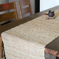 Vintage europeo beige ramio de seaving mesa de Decoración de casa de chemin de mesa tafelloper toalha caminho de mesa SP5238