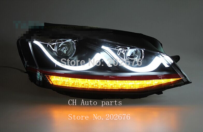 golf 7 led headlight conversion assembly with bi xenon. Black Bedroom Furniture Sets. Home Design Ideas