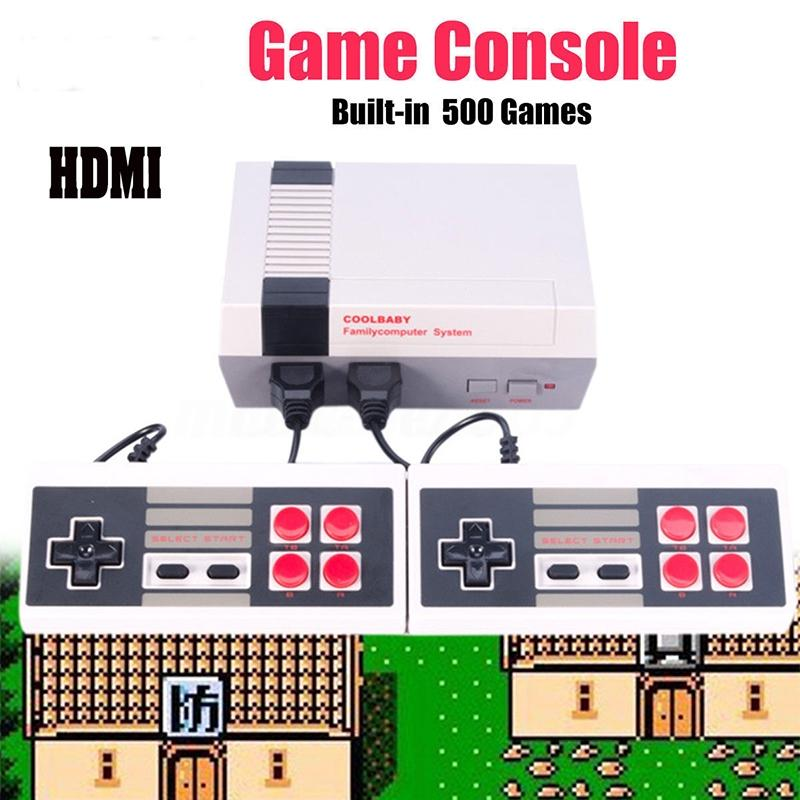 LeadingStar Classic Mini Family Game Consoles Built-in 500 TV Video Game with Dual Controllers(HD, HDMI Socket) zk30 nintendo gbc game video card pokemons classic collect classic colorful edition