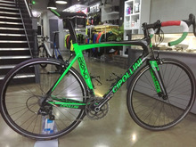 Cipollini Bond Green Full Carbon Road complete Bike Bicycle With 50mm WHEELSET Sale handlebar saddle cheap Carbon Fibre Male Spring Fork (Low Gear Non-damping) Ordinary Pedal CARROWTER Hard Frame (Non-rear Damper) 7 5kg Double V Brake