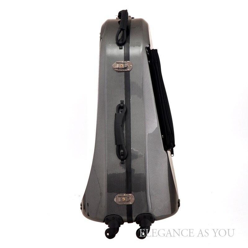 Чехол euphonium ABS Bassoon на нижних колесах с ручкой Contrabassoon алюминиевый латунный духовой инструмент сумка симфонический оркестр Бессон чехол