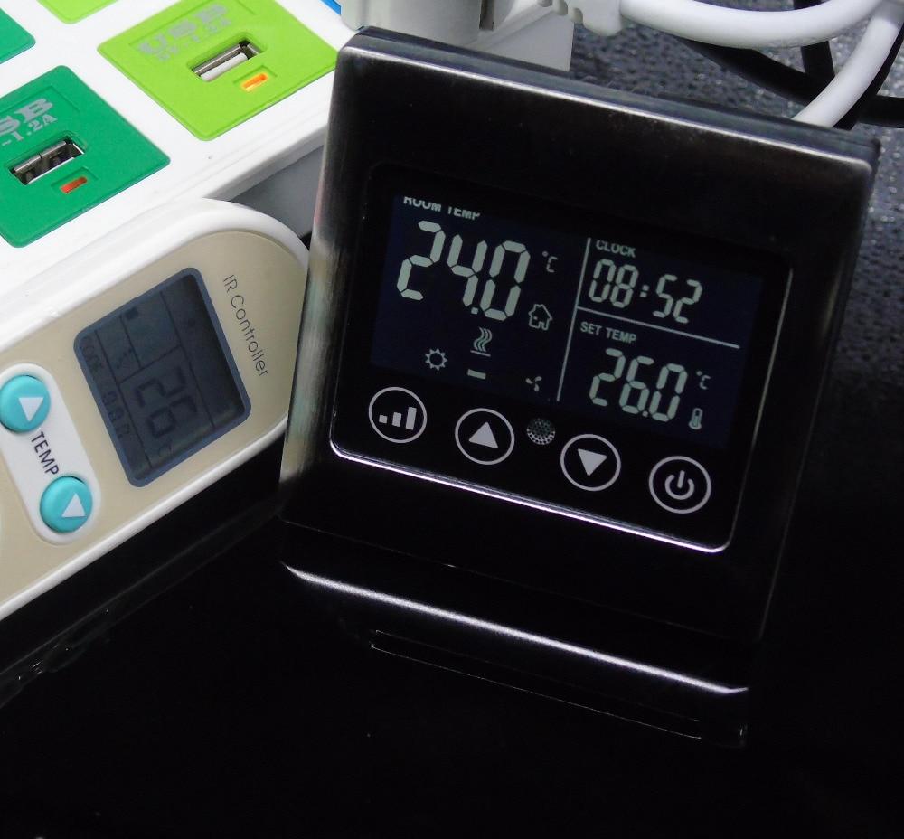 СВЕТОДИОДНАЯ подсветка сенсорных клавиш кондиционер комнатный термостат с дистанционным управлением, кондиционер Fan-coil-термостат