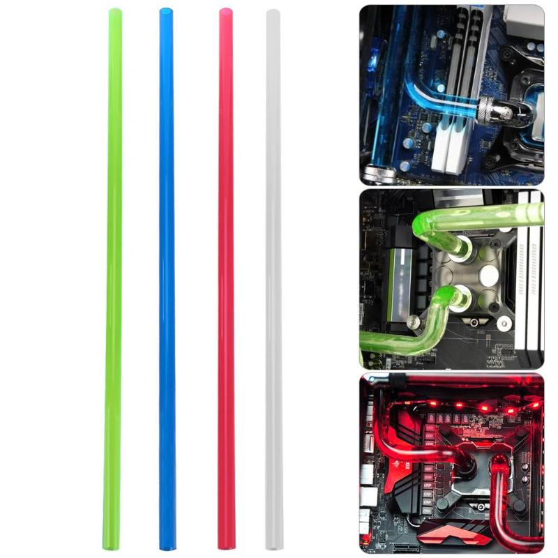 Computer Water Cooling Rigid Tube PETG 10x14mm 500mm Rigid Tube Hard Horse Pipe for PC Water Cooling System Blue Green Red Clear 50cm piece od25 30 32 40 50 60 70mm transparent diy acrylic tube pmma tube for pc computer water cooling