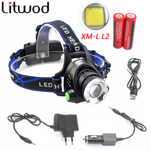 5000 Lumens Led Leadlamp Cree XM-L T6 / L2 Led Headlights Lantern 4 Mode Waterproof Torch Head 18650 Rechargeable Battery Newest