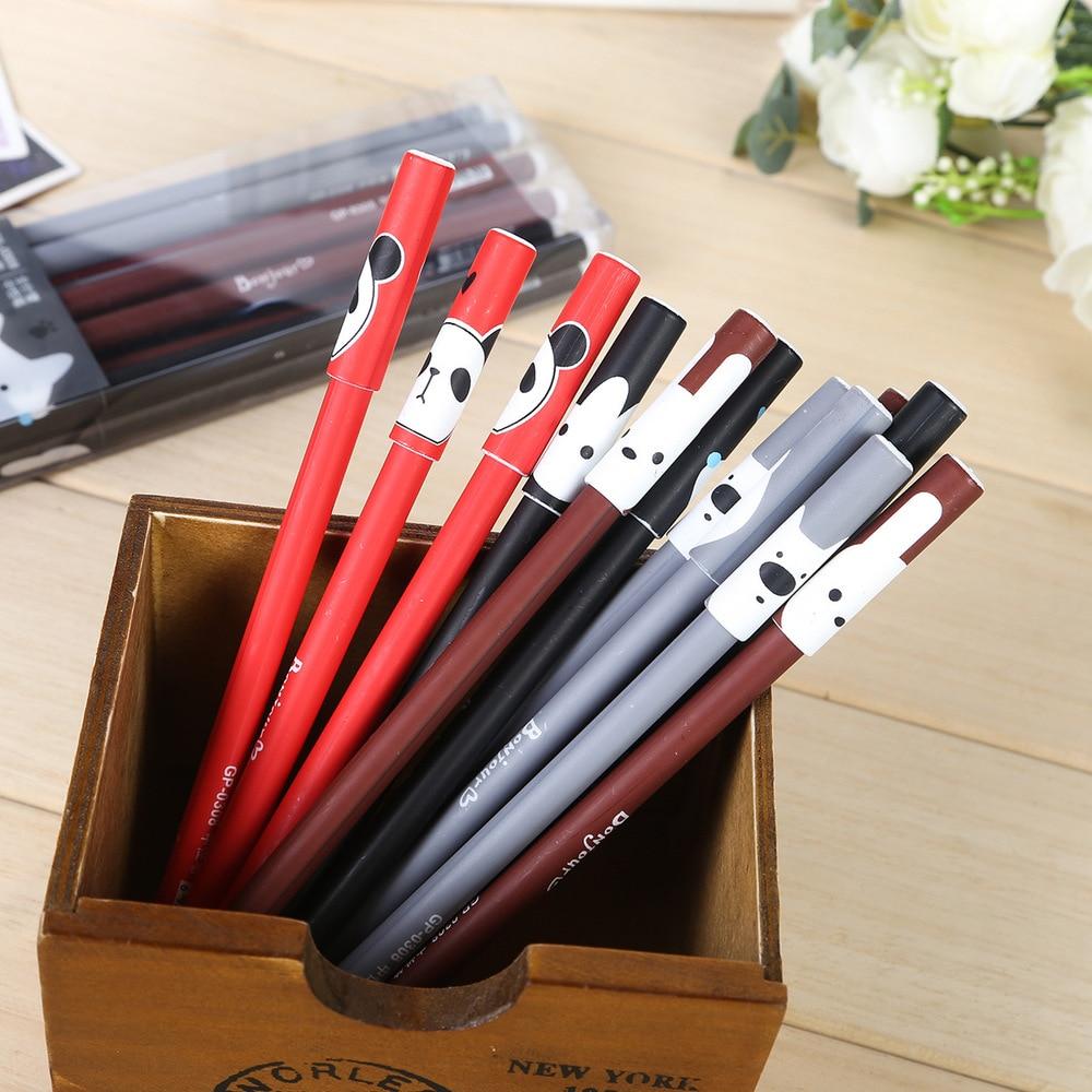 Bon bear, neutral pen, cartoon, neutral, Bibi, creative pen, stationery wholesale, Korea 12pcs/set random color