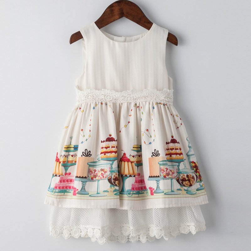Childdkivy Girls Summer Dress 2018 Baby Girl Lace Princess Dress Party Clothes Kids Print Dresses For Girls Birthday 3-10 Years