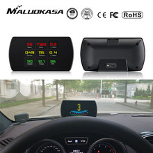OBD2 Gauge Car HUD Head Up Display Smart Digital Meter HD Digital Display GPS Speedometer Fuel Consumption Temperature RPM