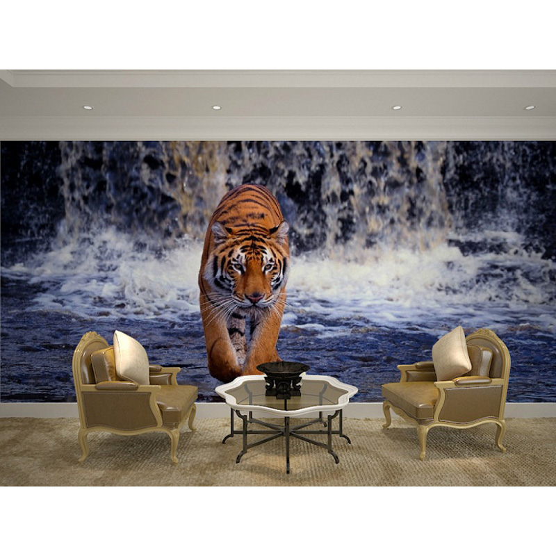 Latest Collection Of Lion And Tiger Animal 3d Papel Mural Wallpaper For Living Room Sofa Background 3d Wall Photo Murals Wall Paper 3d Wall Sticker Orders Are Welcome. Wallpapers