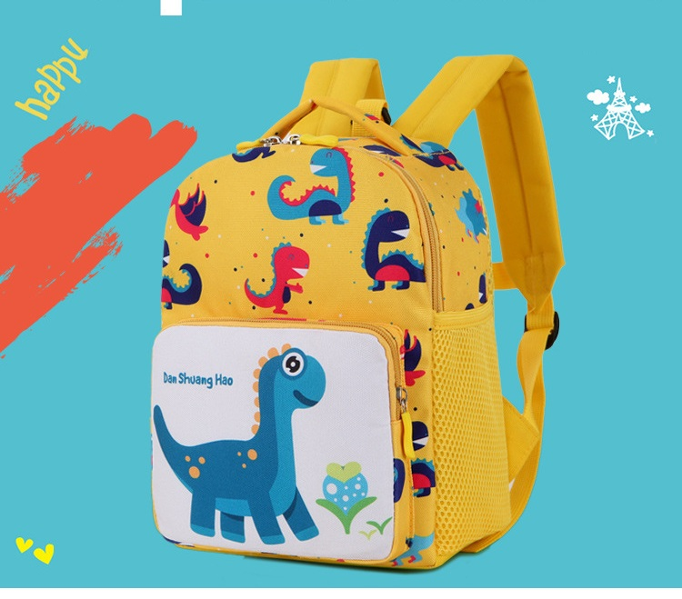29b9937f4261 Children Cartoon Dinosaur Print Anti-lost Backpack Animal School Bags Boys  Girls Preschool Kindergarten Bag Kids Small SchoolBag