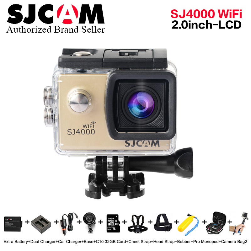 Original SJCAM SJ4000 WiFi Action Camera 2.0 inch Sports DV 1080P HD Diving 30M Waterproof mini Camcorder go extreme pro sj cam original eken action camera eken h9r h9 ultra hd 4k wifi remote control sports video camcorder dvr dv go waterproof pro camera