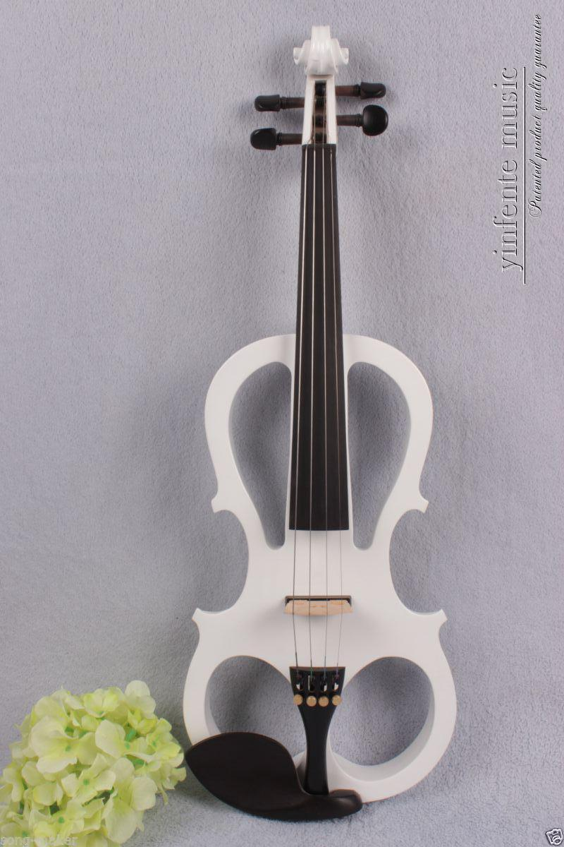 New Electric violin 4/4 Powerful Sound silent Aluminum Alloy ebony parts #1348 00120 1 4 string brown 3 4 new electric upright double bass finish silent powerful sound