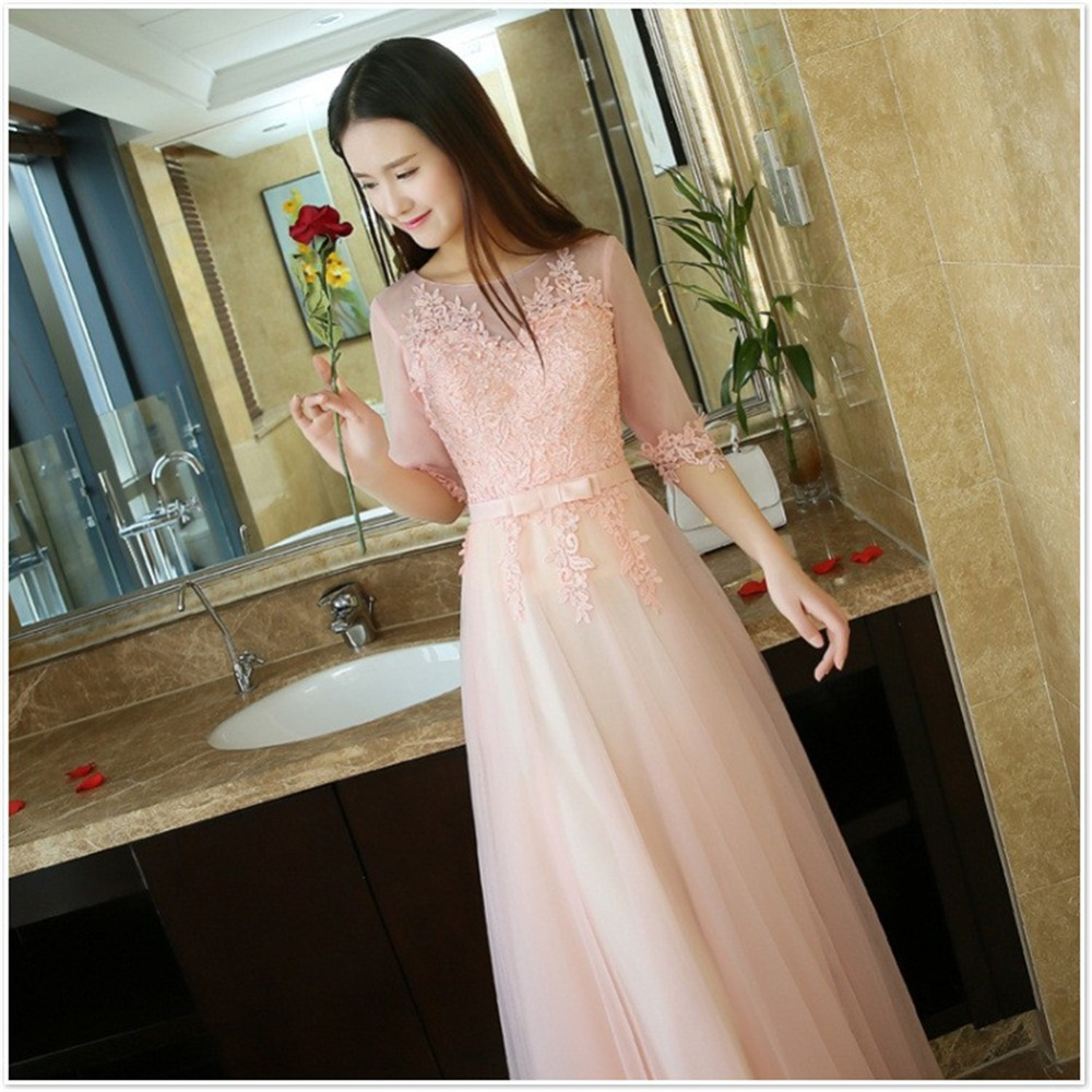 ruthshen Blush Pink Cheap Prom Dresses Under 50 Lace Appliques ...
