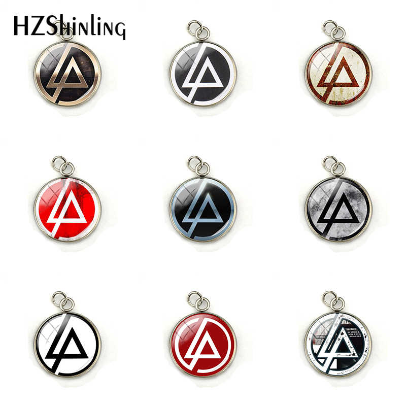 Baru Fashion Linkin Park Logo Pesona Stainless Steel Linkin Park Band Rock Butterfl Kubah Kaca Kalung Liontin Perhiasan