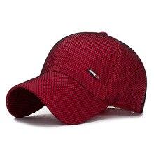 Spring Summer Breathable Mesh Baseball Cap Gorras Para Hombre Men's Cap