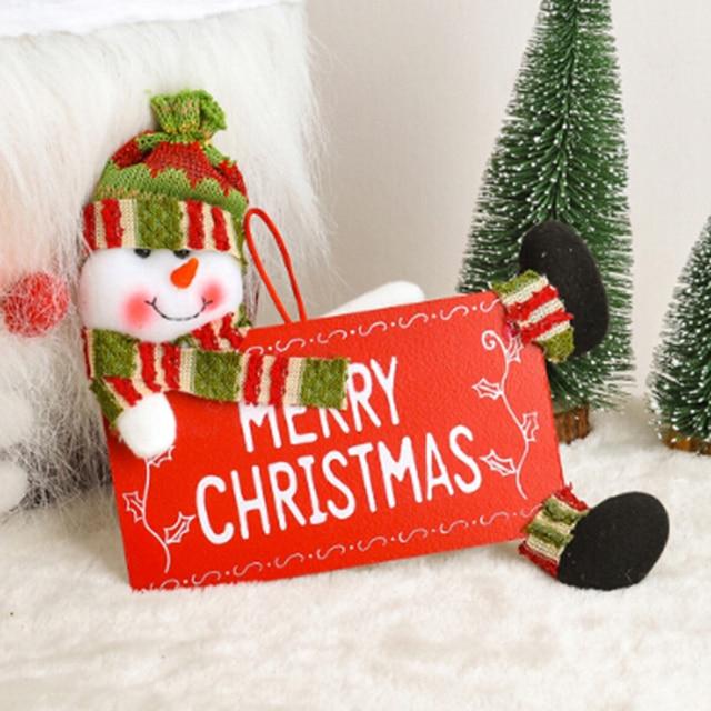 christmas decorations christmas fabric door hanging santa snowman small door hanging christmas decor for home xmas - Small Christmas Door Decorations