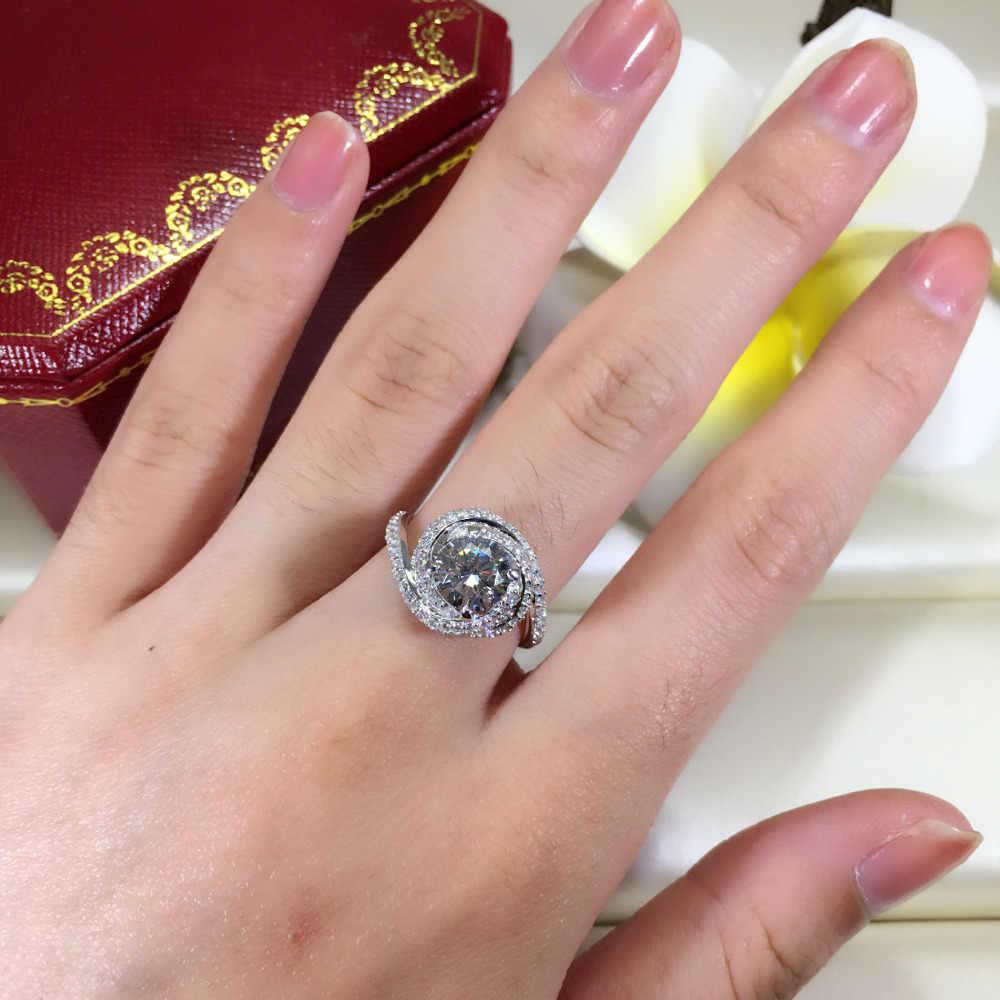 Victoria Wieck Fashion Kreuz Schmuck 3ct AAAAA zirkon cz hochzeit band ringe für frauen 925 Sterling silber Weiblichen Ring