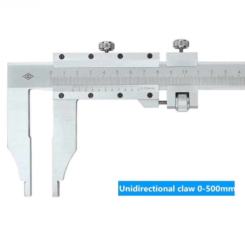 Pince unidirectionnelle 0-1000mm curseur étrier carte de marquage d'huile échelle en acier inoxydable pied à coulisse - 2