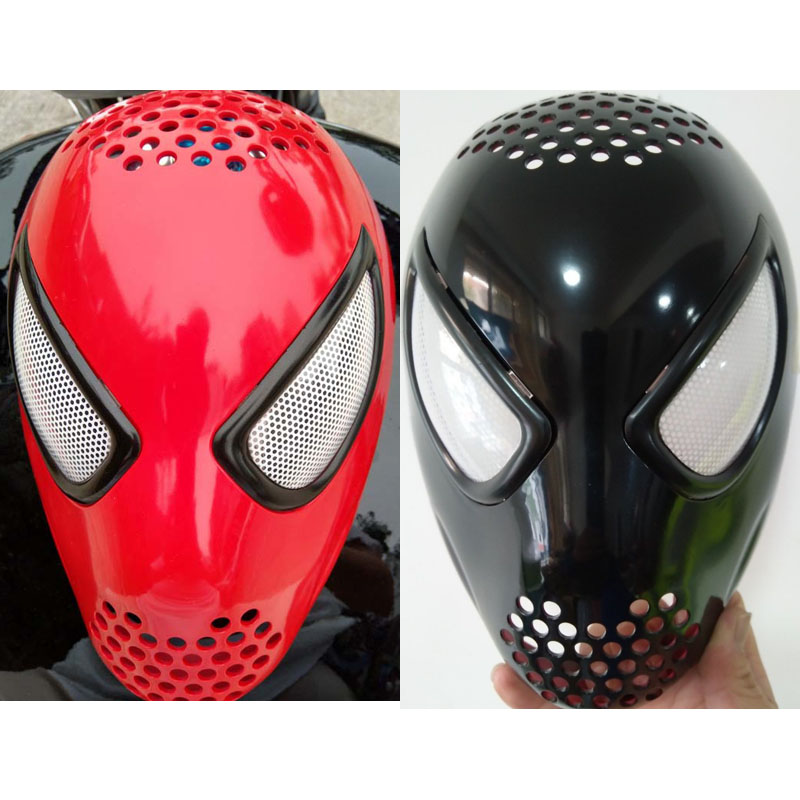 Spiderman Mask Cosplay Amazing Spider-Man Spider Helmet Of spiderman homecoming Silica Gel Faceshell