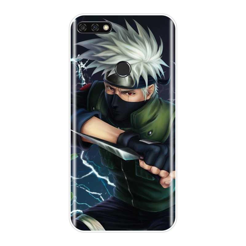 Anime Naruto Tampa Traseira Para Huawei Honor 7 8 9 10 Lite 7 S 7X 7A 7C Pro Suave Silicone caixa do telefone Para Huawei Honra 8X MAX 10 9 8 7